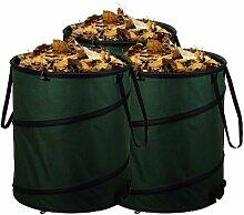 3er Set Gartensack Laubsack Gartenabfallsack mit je 80 Liter Fassungsvermögen