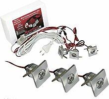 3er Set Joe Mini LED Einbaustrahler 3X 1W mit