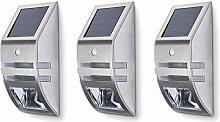 3er SET JVS-LICHT Solarleuchten 0.6W Kaltweiss