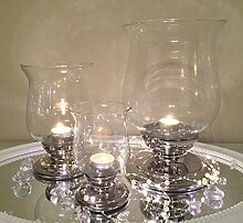 3er Set Keramik Glas Kerzenständer Kerzenhalter