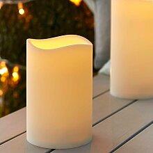 3er Set LED Außenkerze Gartendeko mit Zeitschaltuhr 17,5cm Batteriebetrieb Lights4fun