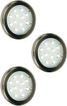3er Set LED Beleuchtung Einbaustrahler Lampe