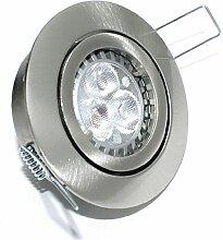 3er Set LED Einbaustrahler Max Farbe Edelstahl