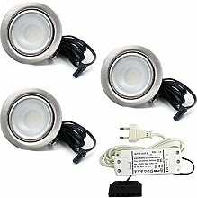 3er Set LED Einbaustrahler Möbelleuchte