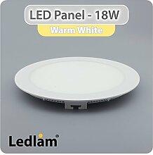 3er SET LED Einbaustrahler Panel weiss rund Ø