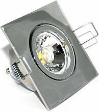 3er Set LED Einbaustrahler Quajo Farbe Chrom GU10