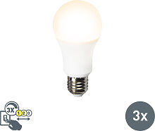 3er Set LED-Leuchte A60 12W E27 3in1
