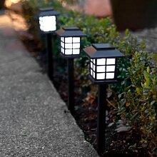 3er Set LED Solar Laterne, Solar Wegbeleuchtung