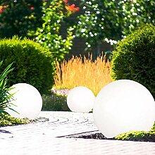 3er Set LED Solar Steck Deko Leuchte Kugeln IP44