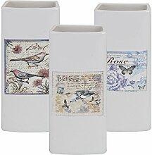 3er Set Luftbefeuchter Keramik Verdunster