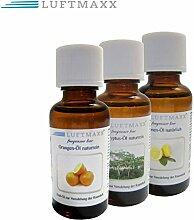 3er Set LUFTMAXX Duftöl Zitrone Orange Eukalyptus je 30 ml für Staubsauger mit Wasserfilter Wasserstaubsauger und Lufterfirscher