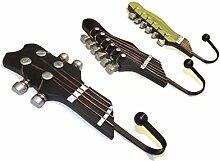 3er Set Retro Metall Vintage Wandhaken Gitarre
