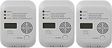 3er Set Smartwares Kohlenmonoxid Melder mit