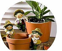 3er Set Topfhänger Kinder Blumendeko Gartendeko