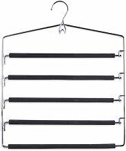 3er Set Zeller Mehrfach-Hosenbügel Metall für je fünf Hosen