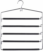3er Set Zeller Mehrfach-Hosenbügel Metall für je