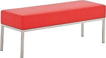 3er Sitzbank Lamega 120x40-rot