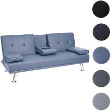 3er-Sofa HWC-F60, Couch Schlafsofa Gästebett,