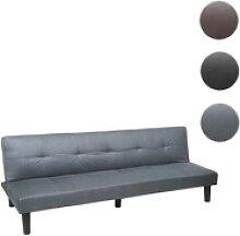 3er-Sofa HWC-G11, Couch Schlafsofa Gästebett