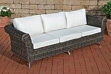 3er Sofa Vivari Creme-graumeliert