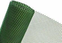 3m² MASCHENGEWEBE in 0,6m x 5m Kunststoffzaun RO2/60HD Gartenzaun Zaun aus Kunststoff Masche 20mm (grün)