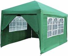 3m x 3m Einsteiger Pavillon mit Seitenwänden und