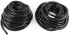 3pcs 10Meter 8mm OD flexibler Draht Spiralhülle Kabelschlauch Band