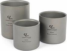 3Pcs Doppelwandige Titanium Wasserbecher Set 120ml