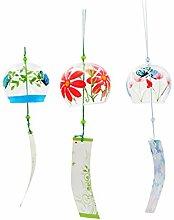 3pcs Japanischer Stil Glas Windspiel Windglocke