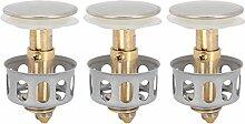 3Pcs Universal Waschbecken Bounce Drain Filter