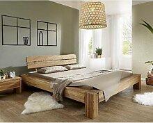3S Frankenmöbel Massivholzbett Lars 200x200 cm