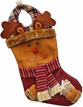 3Stk Weihnachtsbaum Deko Süßigkeitenstrümpfe