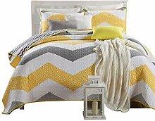 3tlg.Baumwolle Sommerdecke Bettüberwurf