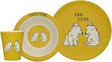 3tlg. Kindergeschirr INTO THE WILD BEAR Bären