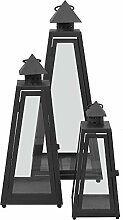 3tlg. Set Laternen Windlichter Gartenlaterne