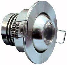 3W LED Einbaustrahler FISHEYE - Schwenkbar - IP44