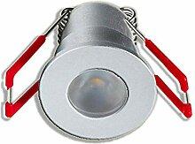 3W LED Mini Einbaustrahler, 3000K Warmweiß,