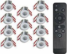 3W LED Mini Einbaustrahler, IP65 Wassergeschützt,