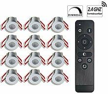 3W LED Mini Einbaustrahler Set, IP65 Schutz,