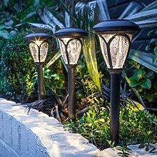 3x 3er Set Solar Leuchte schwarz Lights4fun