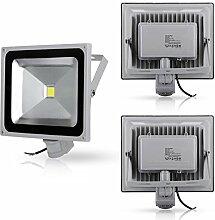 3X 50W LED Strahler Fluter + Bewegungsmelder
