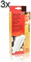 3x ( 6 Stk. ) Scanpart Wasserfilter Patrone Duo für Jura Impressa Vollautomaten