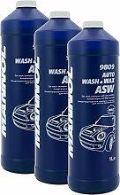 3x Auto Shampoo & Wax 1 Liter Mannol 9809
