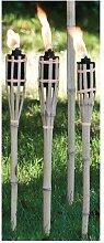 3x Bambusfackel Gartenfackel Partyfackel Petroleum