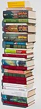 3x Bücherturm unsichtbares Bücherregal Regal