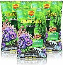 3x Compo Sana Graberde 20 Liter - Dekorative,
