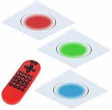 3x Einbaustrahler LED RGB Farbwechsel | 3er Set