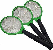 3x Elektrische Fliegenklatsche Fliegenfänger mit elektrischer Spannung im Metallgitter Anwendung im Haus und draußen