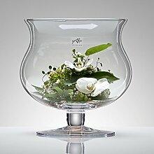 3x Glasvase XL Glas Vase Tischvase Blumenvase mit
