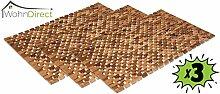 3x Holzbadematte Rutschfest Badvorleger Robust